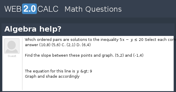 view question algebra help