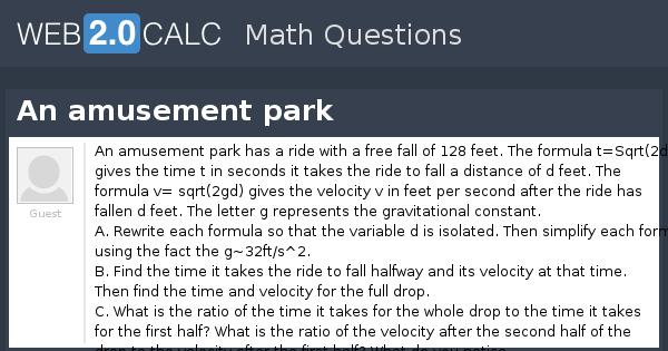 View question - An amusement park
