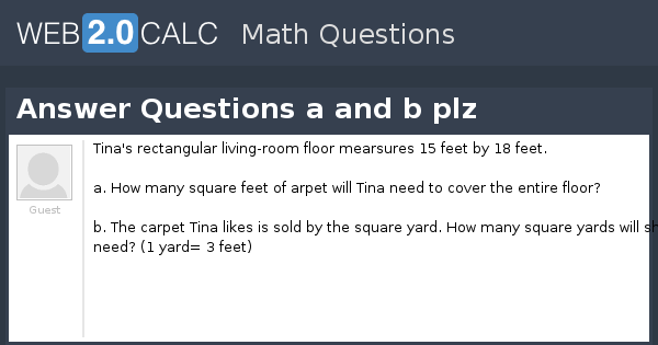 View question - Answer Questions a and b plz