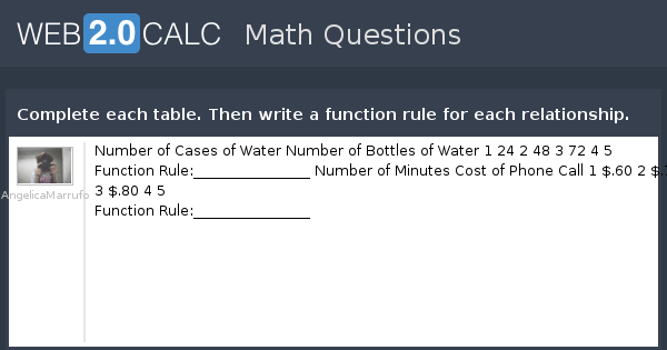 input and output math examples