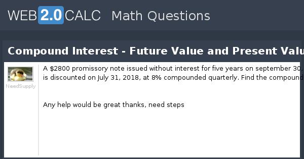 view question - compound interest