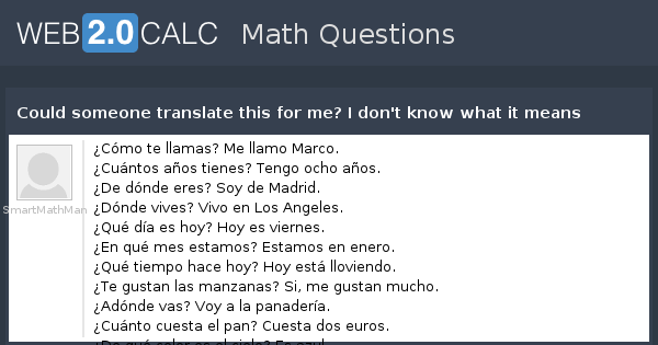 View Question Could Someone Translate This For Me I Dont Know