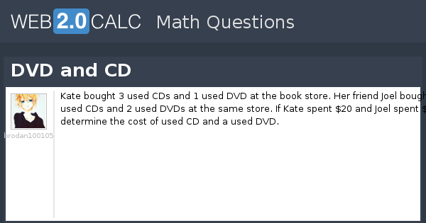View question - DVD and CD