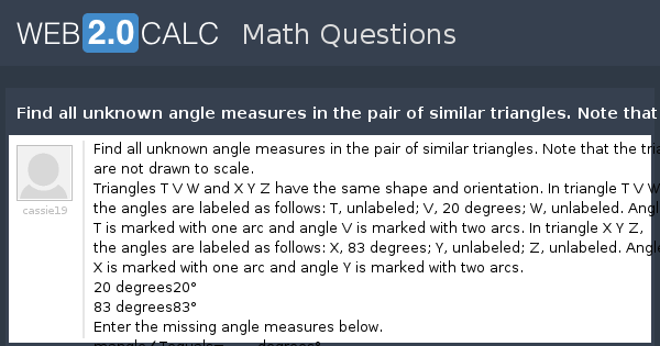 how to find unknown angle measures