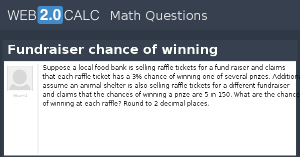 view question fundraiser chance of winning