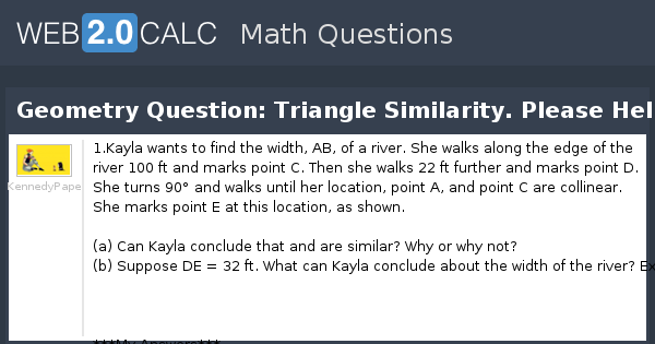 View question - Geometry Question: Triangle Similarity
