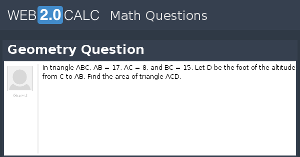 View question - Geometry Question