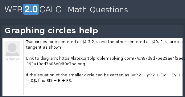 View question - Graphing circles help