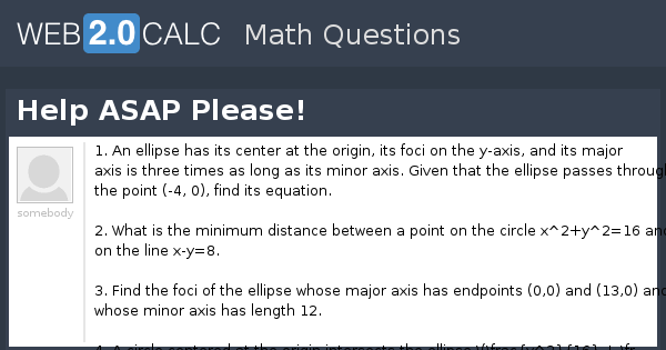 View question - Help ASAP Please!