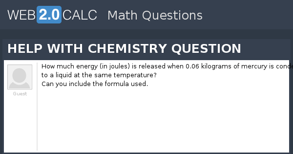 view question help with chemistry question