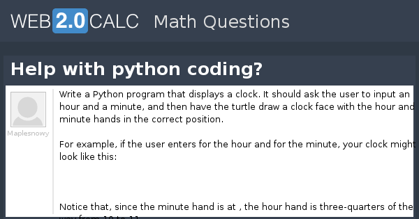 View question - Help with python coding?
