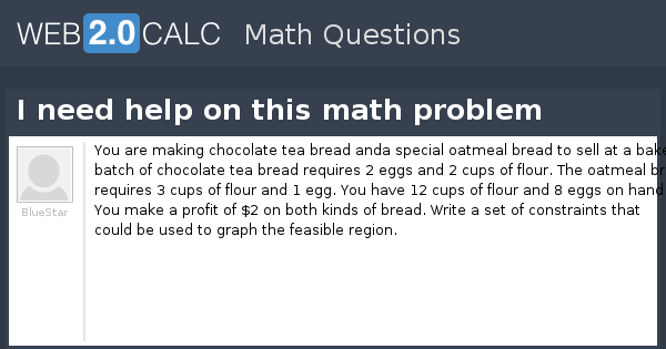 i need help with a math problem