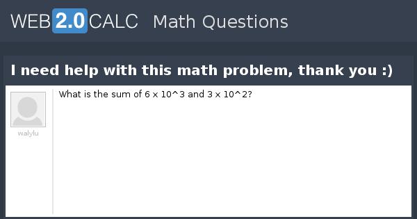 need help with math