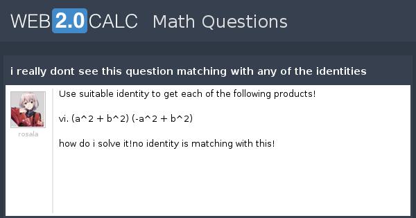 matching math questions