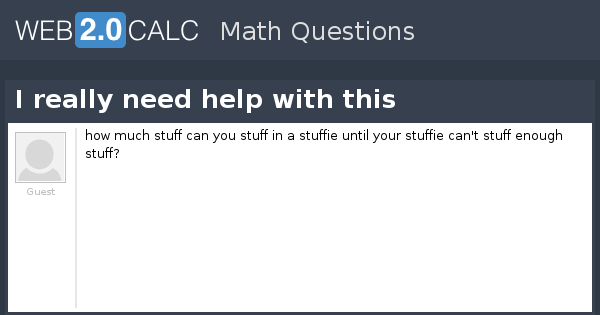 View Question I Really Need Help With This