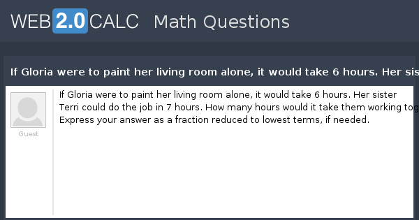 View Question If Gloria Were To Paint Her Living Room