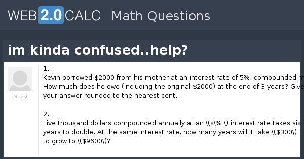 View question - im kinda confused  help?