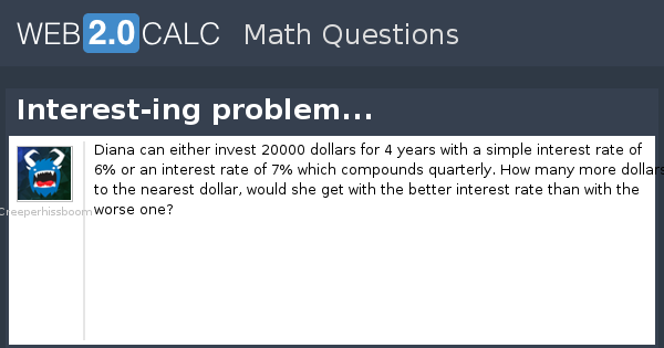 View Question Interest Ing Problem