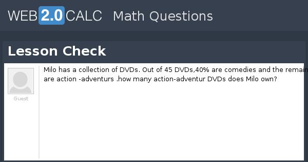 View question - Lesson Check