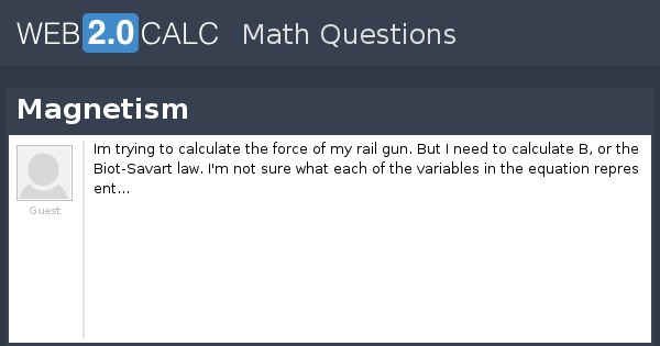 View question - Magnetism