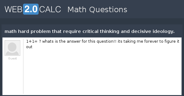 critical thinking math questions