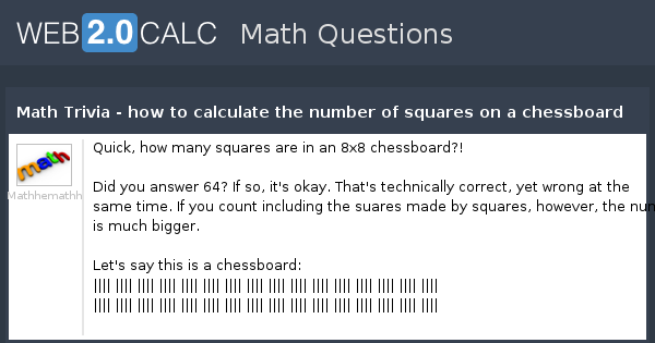 math worksheet : view question  math trivia  how to calculate the number of  : 8x8 Math
