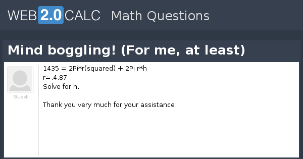 mind boggling math questions