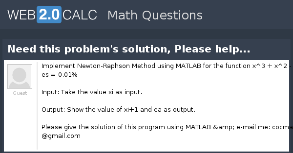 View question - Need this problem's solution, Please help