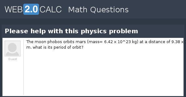 help with physics problem