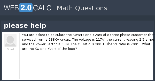 View question - please help