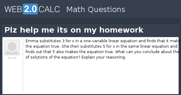 Help me with my math homework online