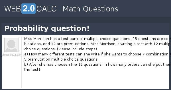 View question - Probability question!