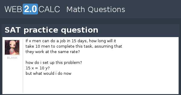 View question - SAT practice question