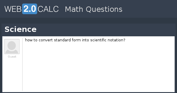 View Question Science