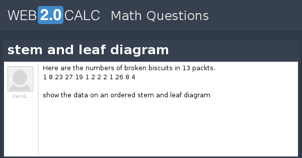 View Question Stem And Leaf Diagram