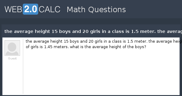 What is the average height for girls