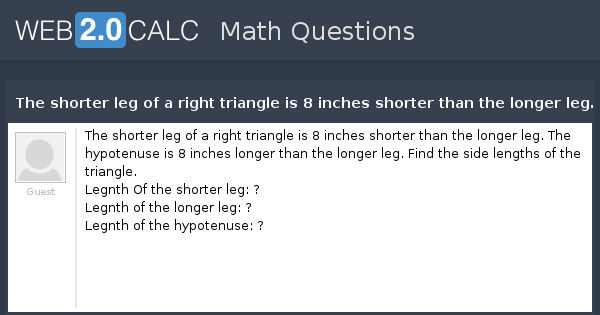 how to find the leg of a triangle