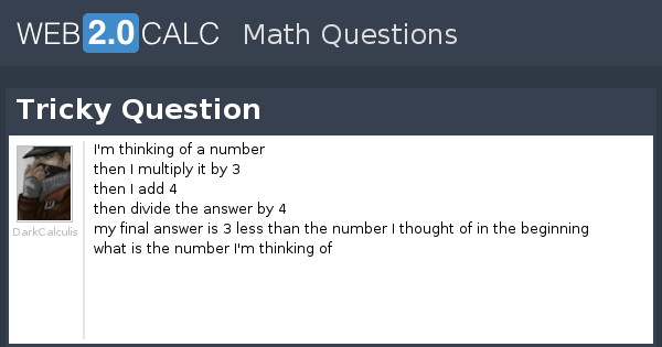 View question - Tricky Question