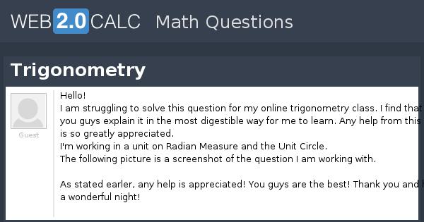 view question trigonometry