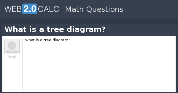 View Question What Is A Tree Diagram
