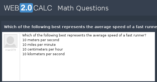 View Question Which Of The Following Best Represents The Average S D Of A Fast Runner