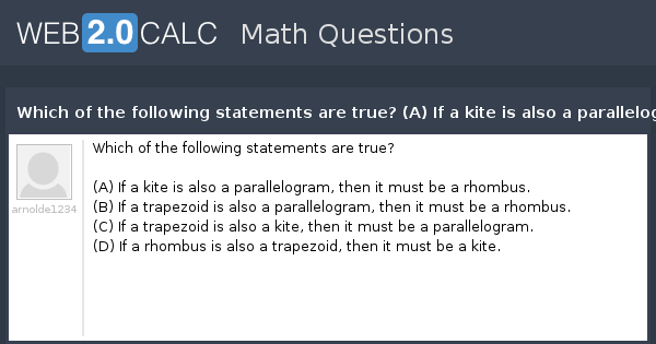 View question - Which of the following statements are true ...