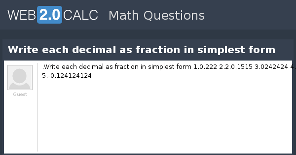 write fraction as decimal Fractions, decimals, and percents date_____ period____ write each write each as a decimal round to the thousandths place 1) 90 % 09 2) 30 % 03.